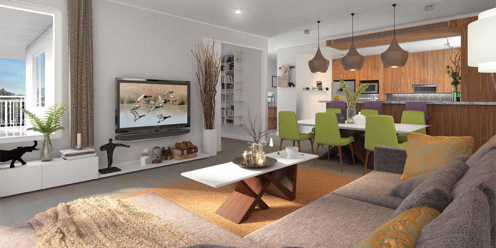 Spacious, contemporary apartments